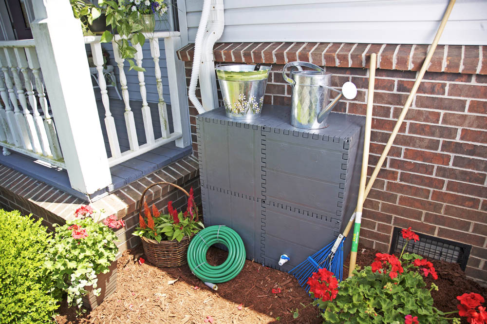 ecocool rain barrels and compost bins are great way to naturally boost your gardens harvesting rainwater and recycling grass clippings and