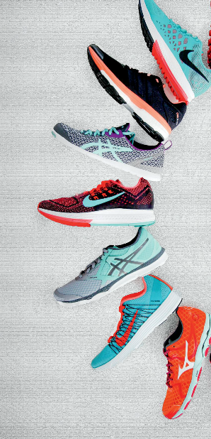A selection of running shoes.