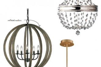 Four examples of trendy lamps.