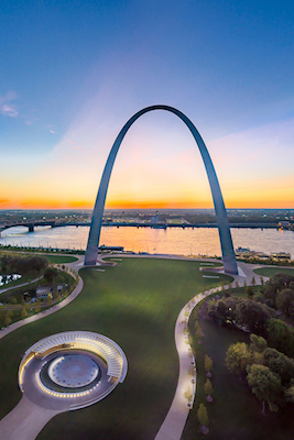 The Gateway Arch  Photo courtesy McElroy Fine Art Photography