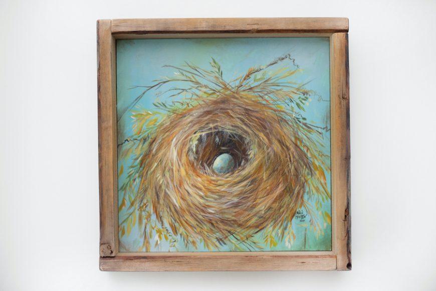 """Barnwood Nest"" by Nicci Martin, $145, Hatch Art House"