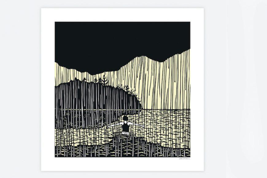 """Astound"" by Nikki McClure, poster print, $15, Anthology"