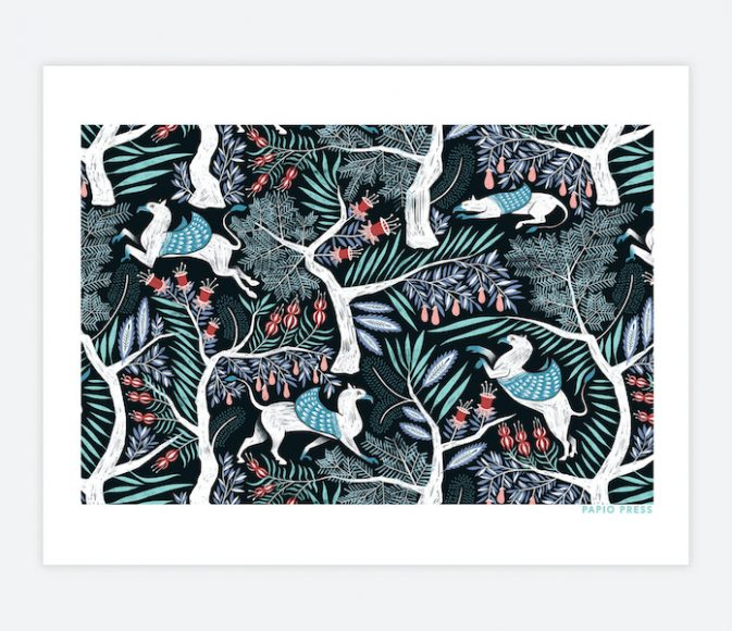 """""""Hippo Griff Forest"""" by Papio Press, poster print, $27, Anthology"""